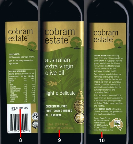 Stocking a Healthy Pantry: How to Decode Food Labels ...  |Extra Virgin Olive Oil Label